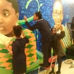 nefatali working on mural