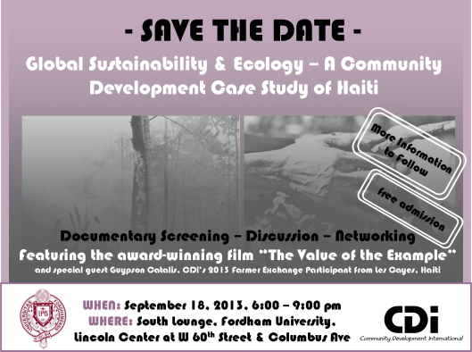Global stability and ecology event flyer