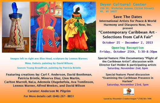 Contemporary Caribbean Art at the Dwyer Center Harlem NYC